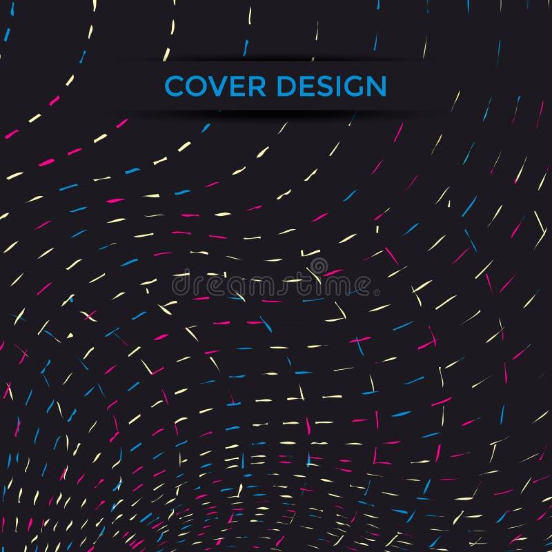 Línea del diseño de la cubierta stock de ilustración