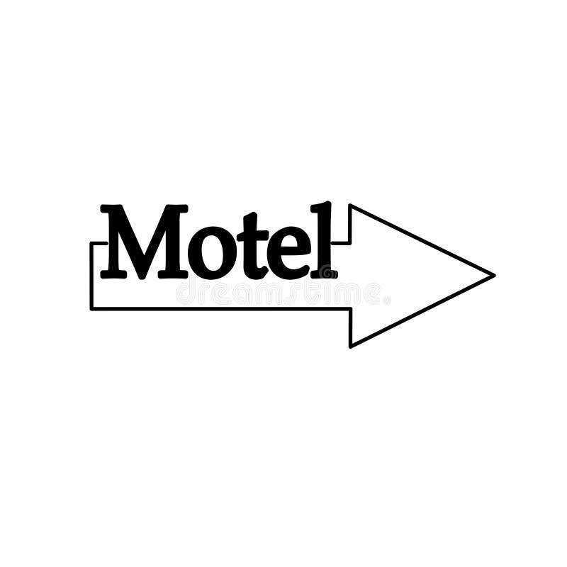 Línea del ejemplo del indicador de flecha del icono del motel, EPS libre illustration
