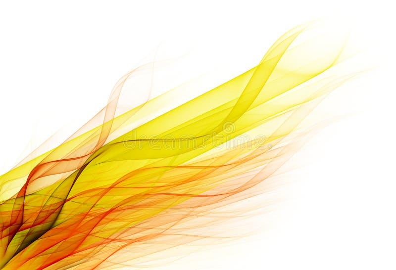 Línea del enrollamiento del color stock de ilustración