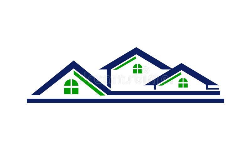 Línea del tejado de la casa stock de ilustración