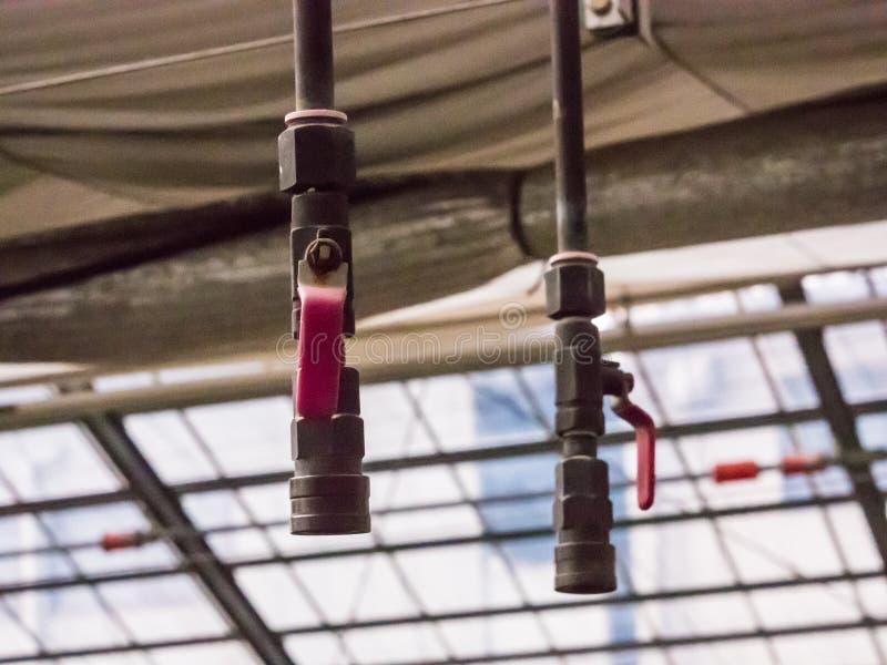 Línea del tubo de la irrigación imagenes de archivo
