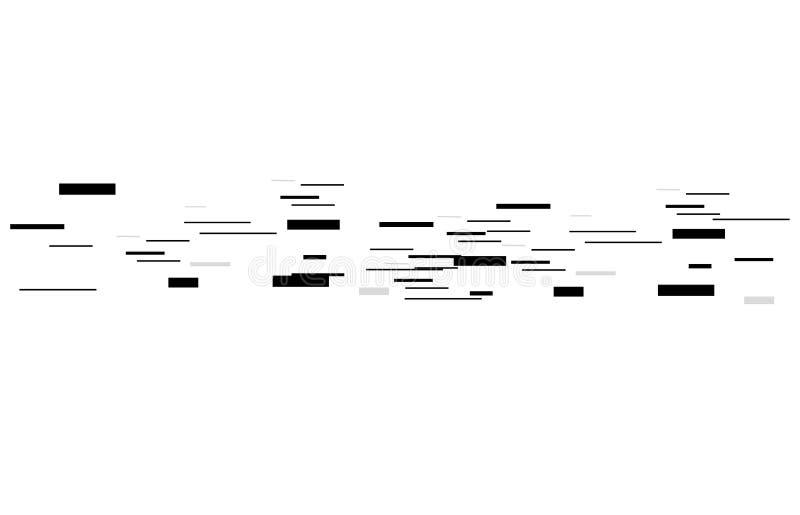 Línea del vector Figuras geométricas con el efecto del movimiento Diseño gráfico para el diseño gráfico - bandera, cartel, prospe libre illustration