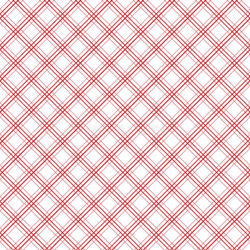 Línea diagonal modelo inconsútil de la tela escocesa geométrica del vector del vintage ilustración del vector