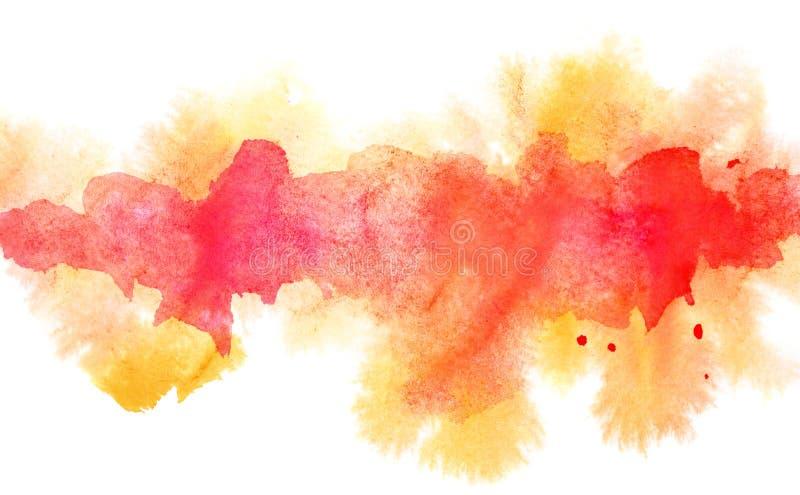 Línea difluente anaranjada de la acuarela ilustración del vector