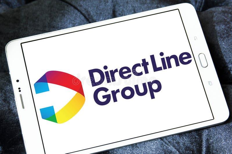 Línea directa logotipo de la compañía del seguro colectivo imagen de archivo libre de regalías