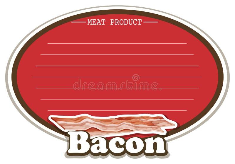 Línea diseño del papel con el producto de carne libre illustration