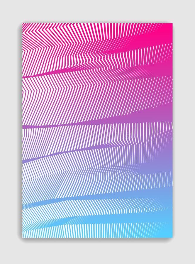 Línea diseño moderno minimalistic del folleto del vector del arte, templ de la cubierta libre illustration