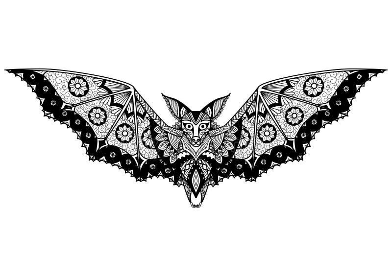 Línea diseño para el tatuaje, diseño de la camiseta, libro de colorear del palo del arte, y así sucesivamente libre illustration