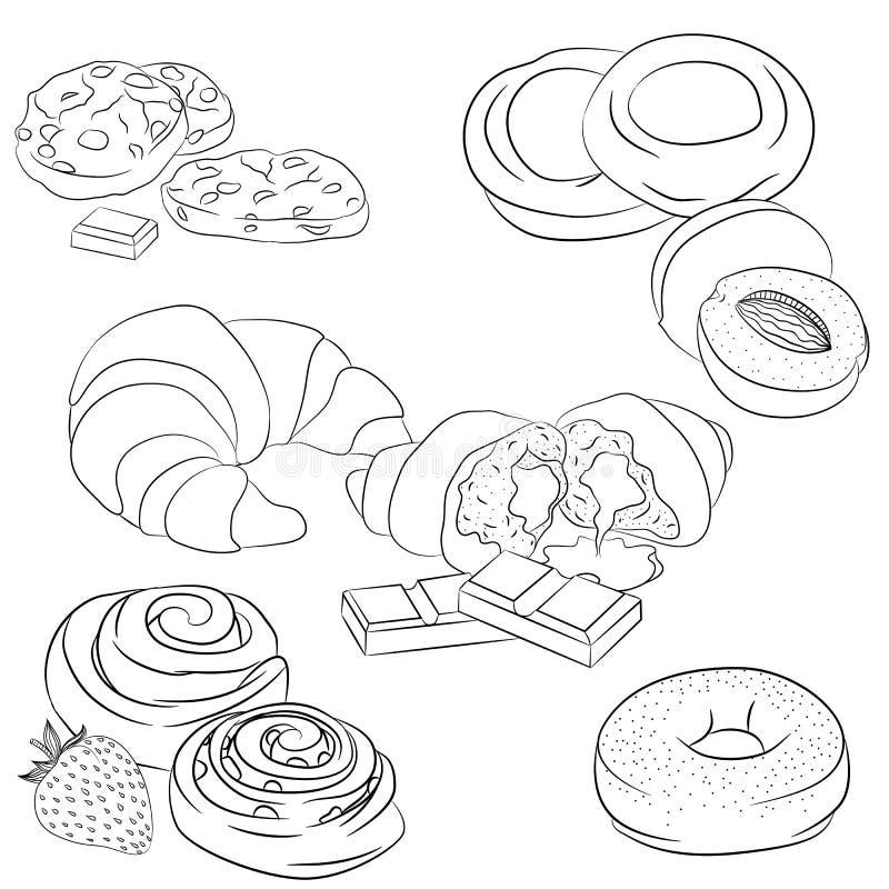 Línea diversa hornada del arte libre illustration
