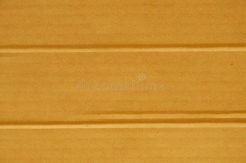 Línea dura fondo y textura del pliegue de la caja de papel de Brown fotografía de archivo