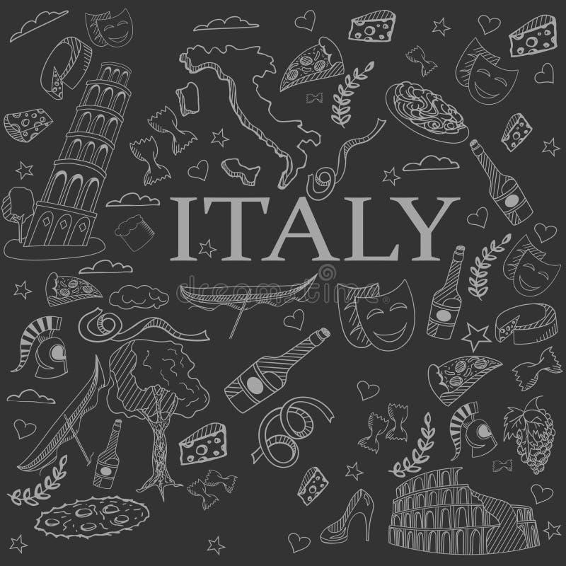 Línea ejemplo de Italia del vector del diseño del arte ilustración del vector