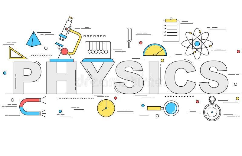 Línea ejemplo de la física del estilo stock de ilustración