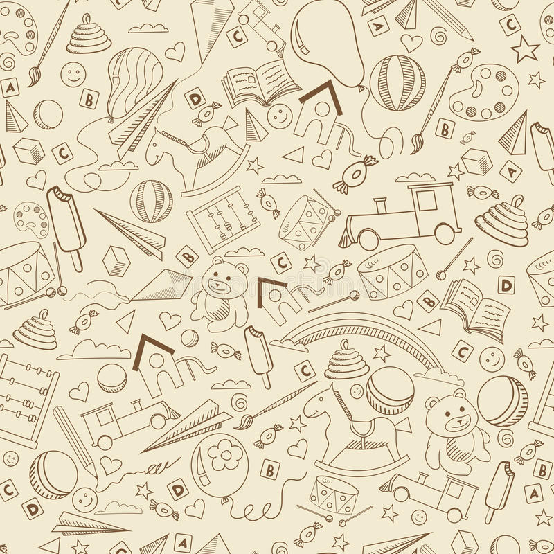 Línea ejemplo de la guardería del vector del diseño del arte ilustración del vector