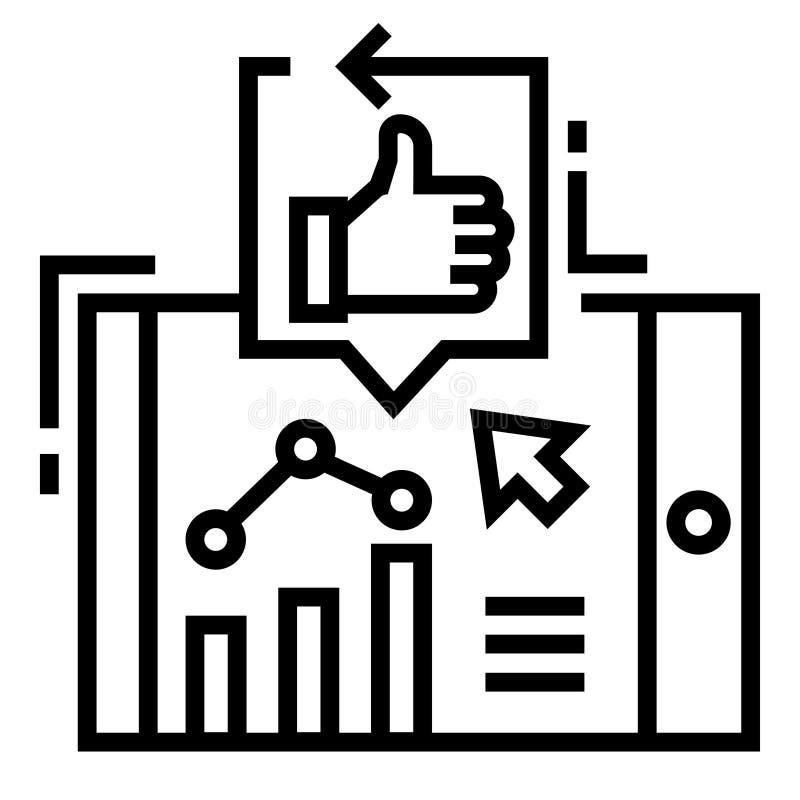 Línea ejemplo de los posts del alza stock de ilustración