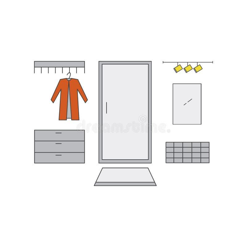 Línea ejemplo del vestíbulo libre illustration