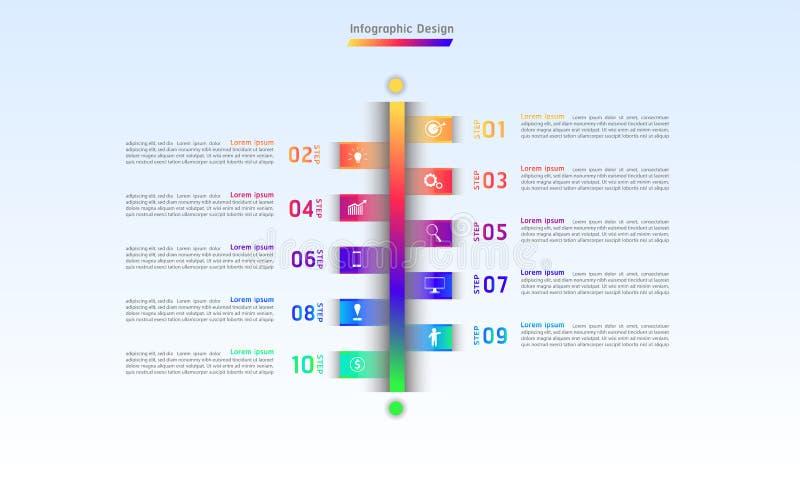 Línea ejemplo infographic eps10 del vector de los pasos del diseño 10 libre illustration