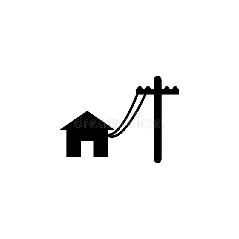 Línea eléctrica de los polos para contener el icono libre illustration