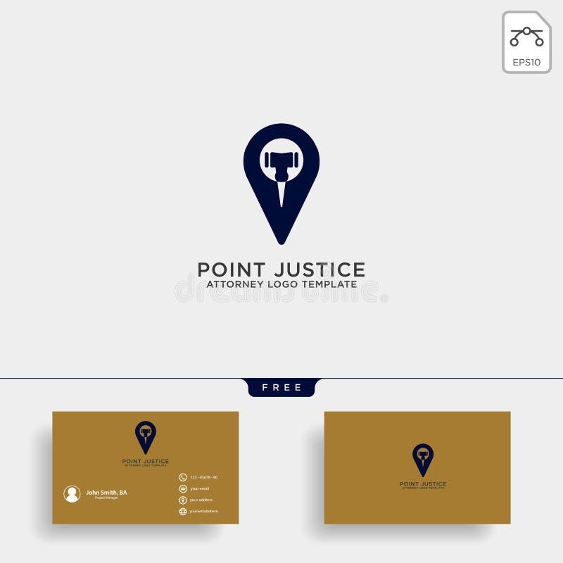 línea elegante ejemplo del logotipo del abogado del navegador del vector de la plantilla del diseño libre illustration