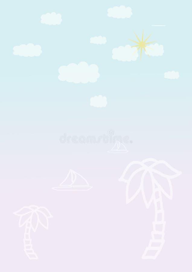Línea en colores pastel abstracta color en colores pastel de la forma del fondo de los minimalis del papel coloreado libre illustration