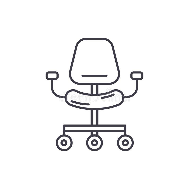 Línea ergonómica concepto de la silla del icono Ejemplo linear del vector ergonómico de la silla, símbolo, muestra ilustración del vector