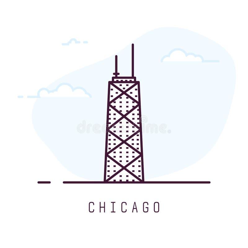 Línea estilo de Chicago stock de ilustración