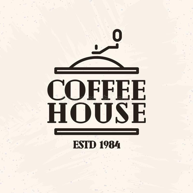 Línea estilo del logotipo del café aislado en el fondo blanco para el café, restaurante, tienda, mercado stock de ilustración