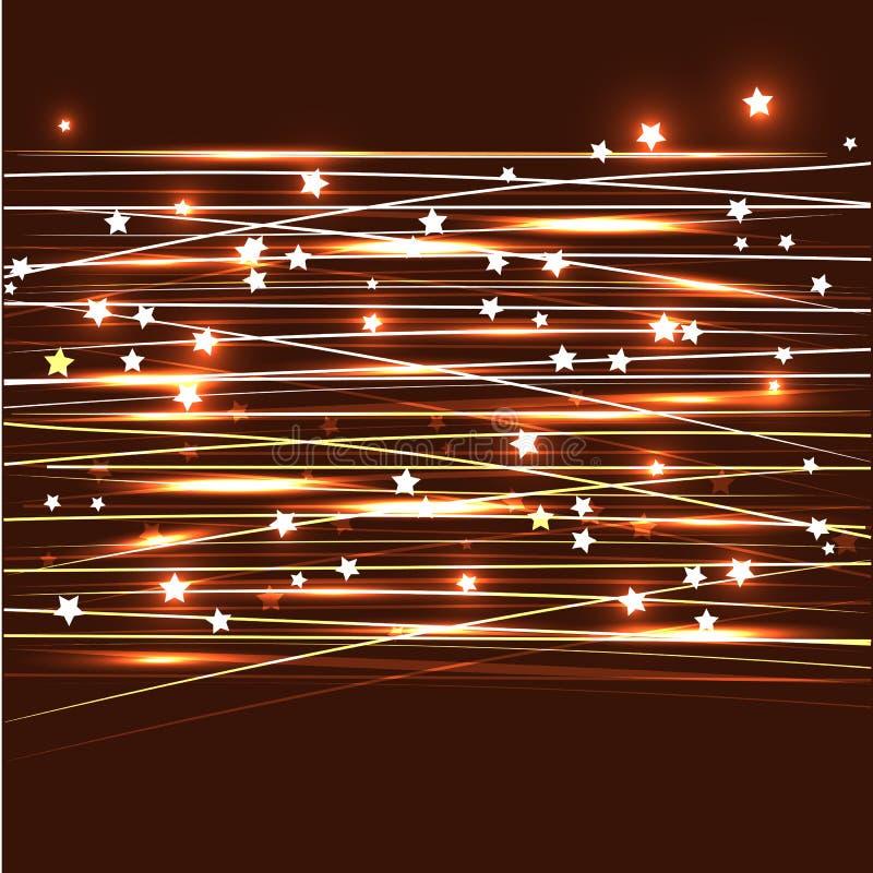 Línea estrella del cielo ilustración del vector