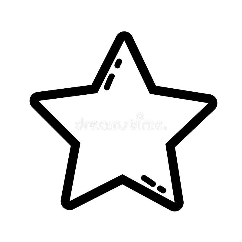 Línea estrella que brilla en el diseño de la decoración del cielo libre illustration