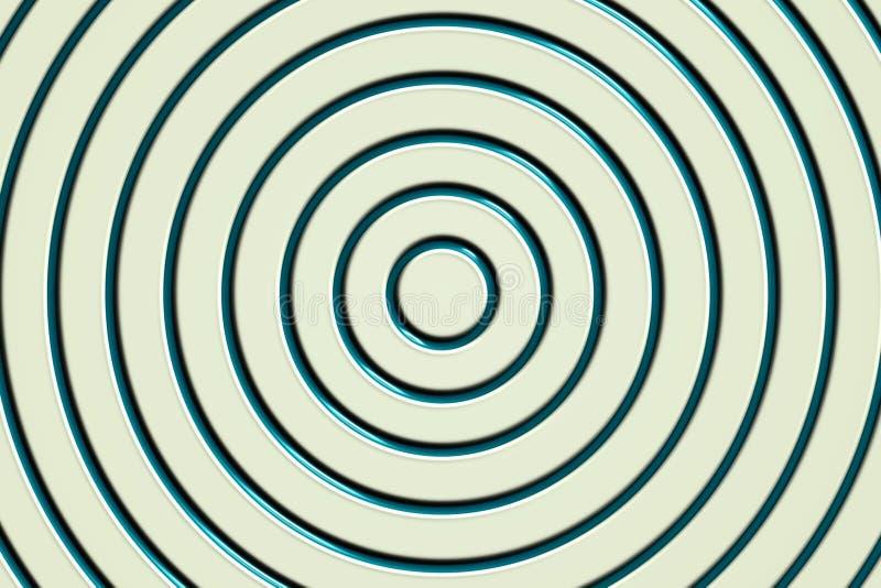 Línea estructura espiral verde en la superficie plástica blanca de la pared, fondo abstracto ilustración del vector