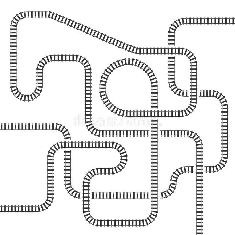 Línea ferroviaria ejemplo aislado pista del vector stock de ilustración