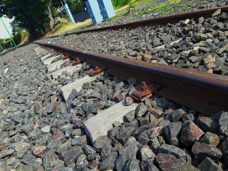 Línea ferroviaria en Costa Rica imagenes de archivo