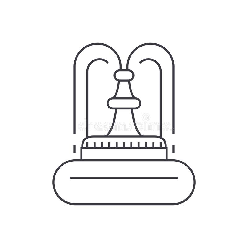 Línea fina concepto de la fuente del icono Muestra linear del vector de la fuente, símbolo, ejemplo stock de ilustración