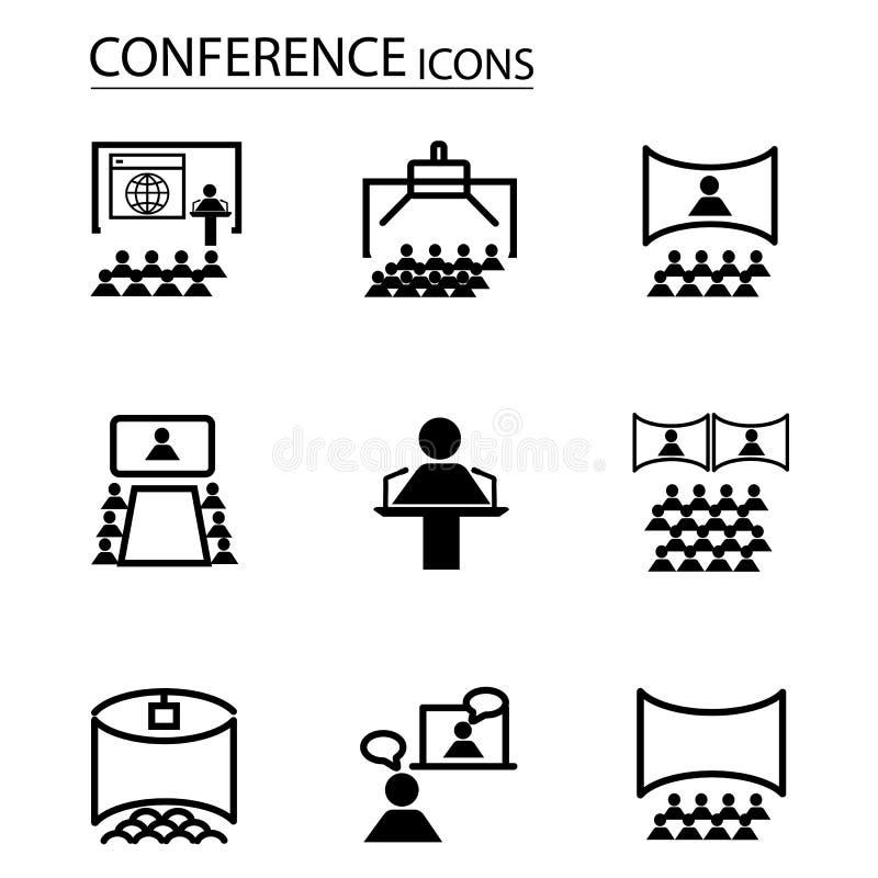 Línea fina de los iconos determinados de interfaz de usuario y de avatares ilustración del vector