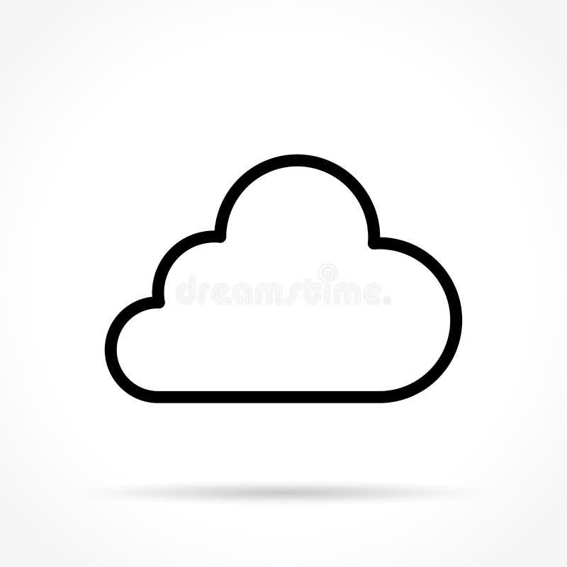 Línea fina icono de la nube libre illustration