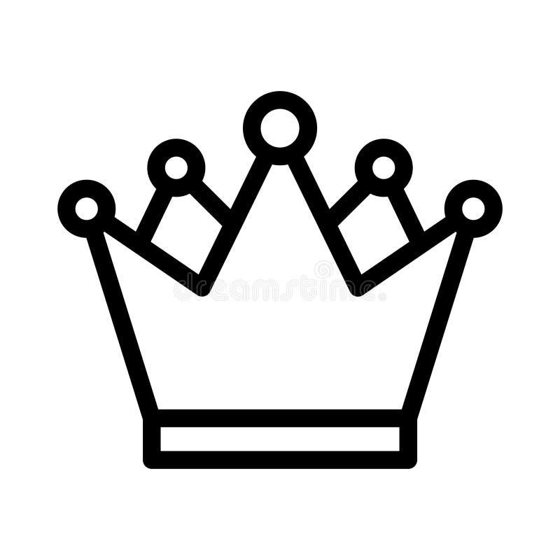 Línea fina icono de la reina del vector stock de ilustración