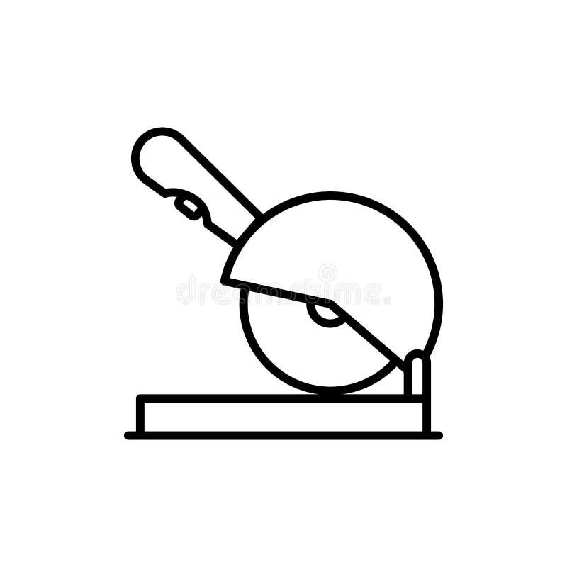 Línea fina icono de la sierra de la circular libre illustration