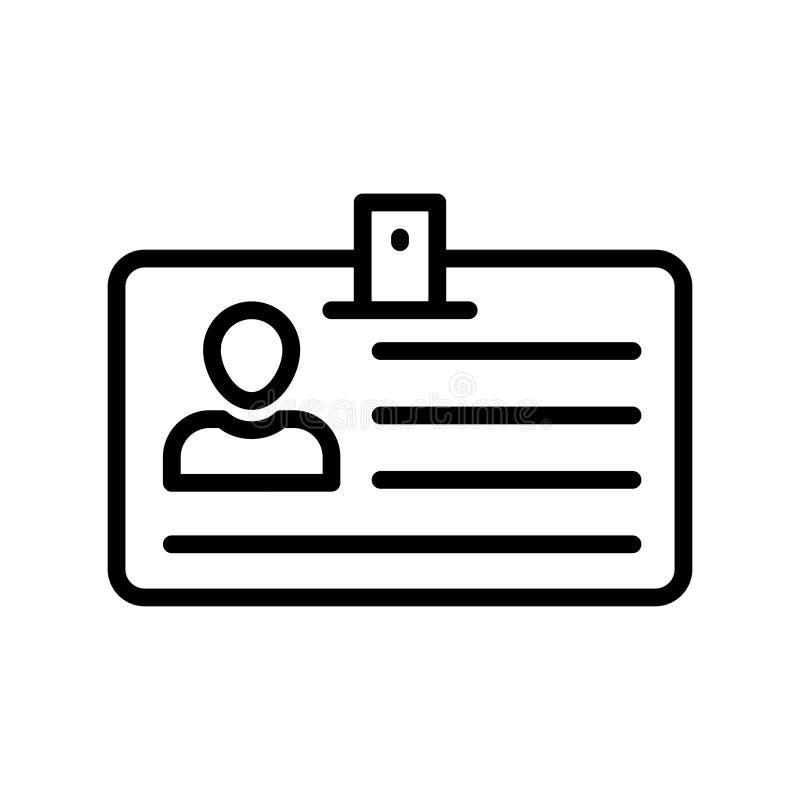 Línea fina icono de la tarjeta de la identificación del vector libre illustration
