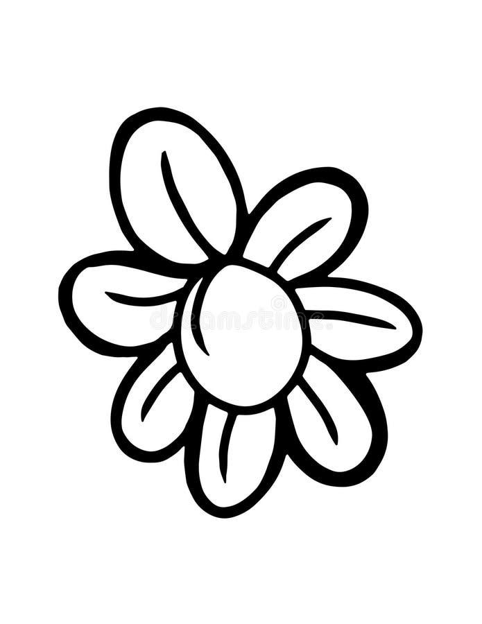 Línea fina icono de los pétalos de la flor ilustración del vector