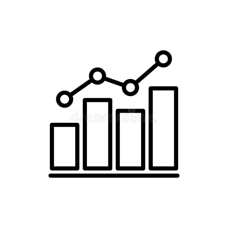 Línea fina icono del análisis de datos libre illustration