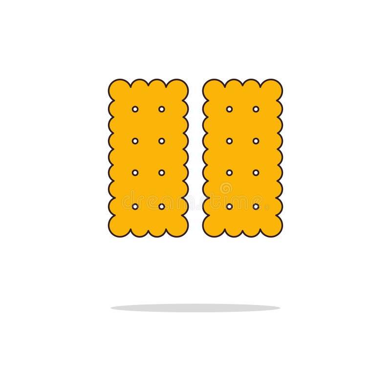Línea fina icono del color de la galleta Ilustración del vector imágenes de archivo libres de regalías
