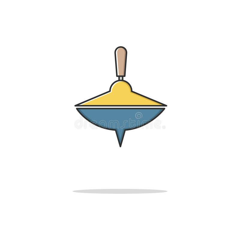 Línea fina icono del color de la perinola Ilustración del vector foto de archivo libre de regalías