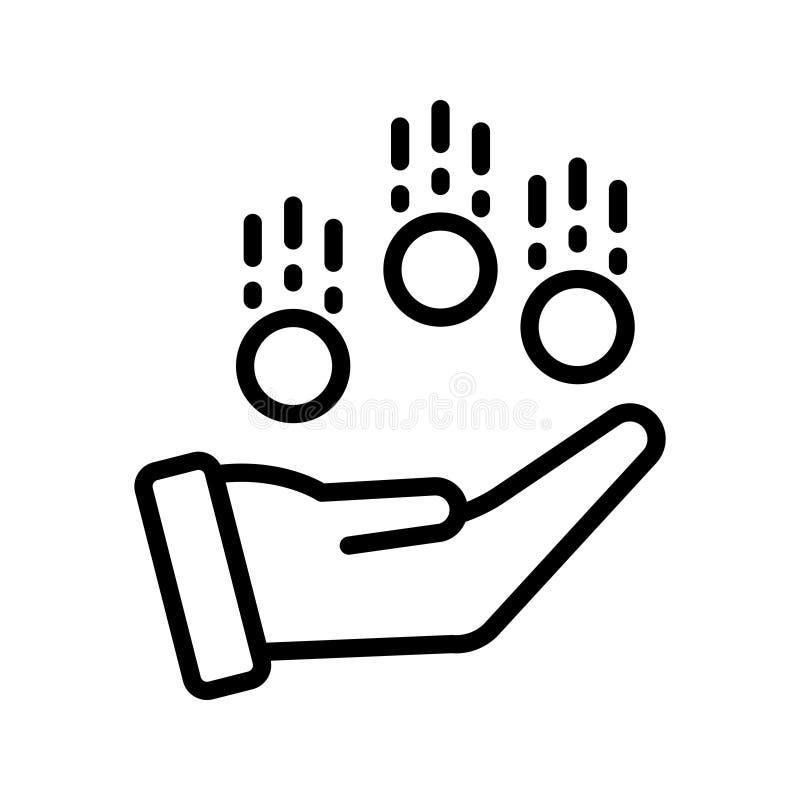 Línea fina icono del dinero del vector libre illustration
