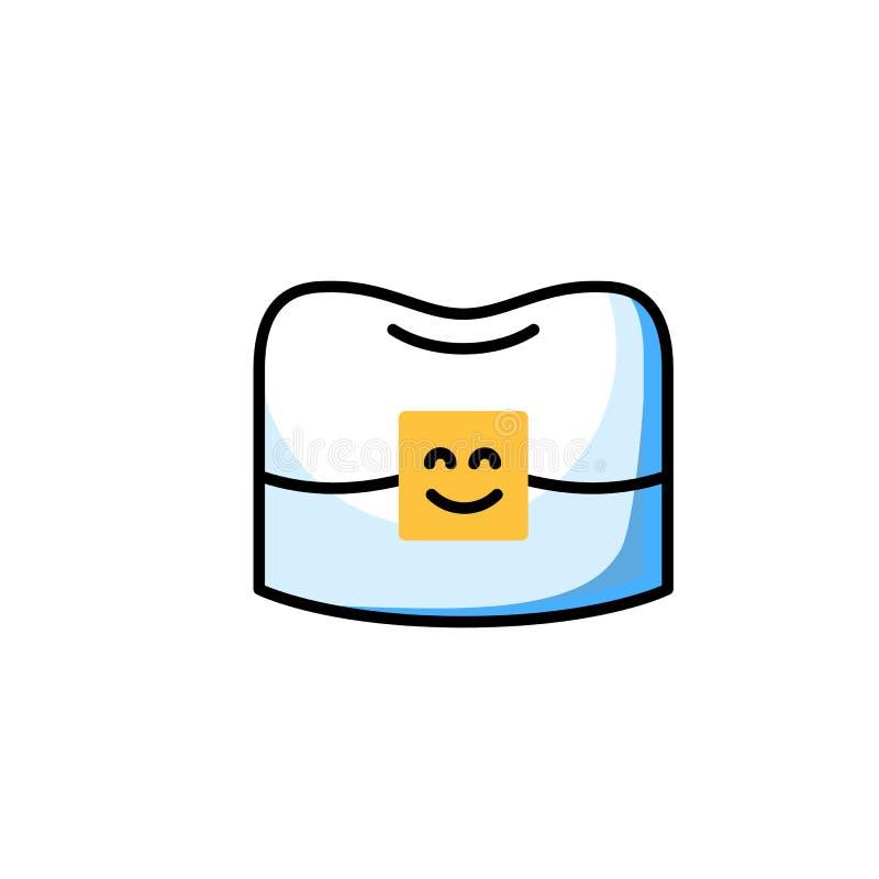 Línea fina icono del orthodontist profesional libre illustration