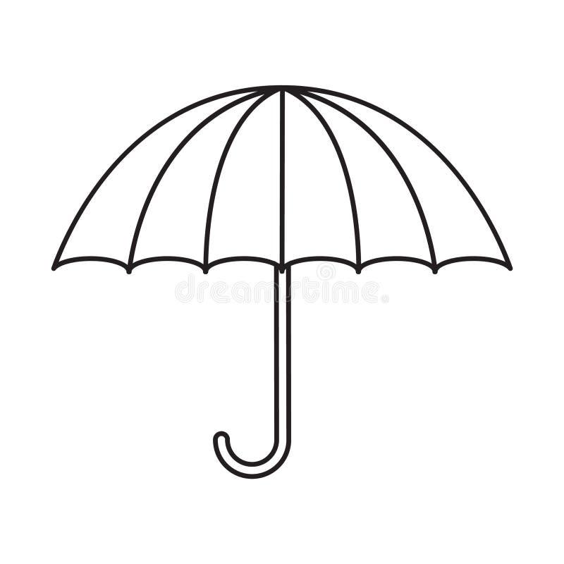 Línea fina icono del paraguas stock de ilustración