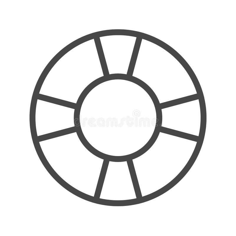 Línea fina icono del salvavidas del vector libre illustration