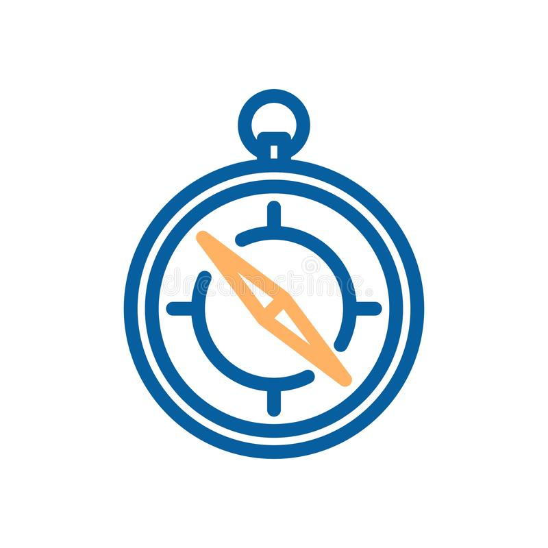 Línea fina icono del vector del compás Vector del objeto el viajar y de la localización libre illustration