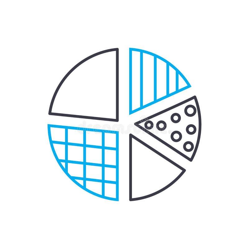 Línea fina icono del vector de la designación de los elementos del movimiento Ejemplo del esquema de la designación de los elemen libre illustration