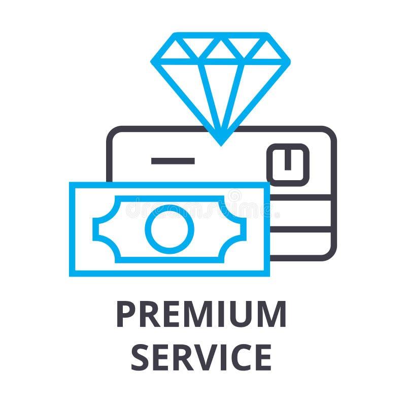 Línea fina icono, muestra, símbolo, illustation, concepto linear, vector del servicio superior stock de ilustración