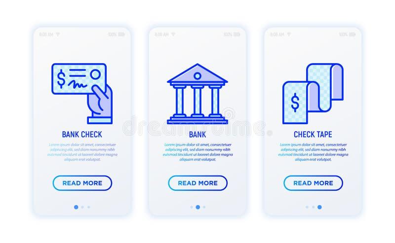Línea fina iconos del informe financiero libre illustration