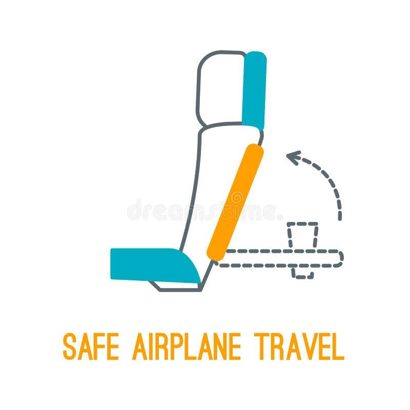 Línea fina iconos para el concepto de la seguridad del aeroplano libre illustration